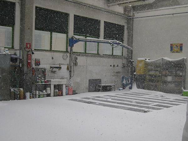 Nevicata a palai
